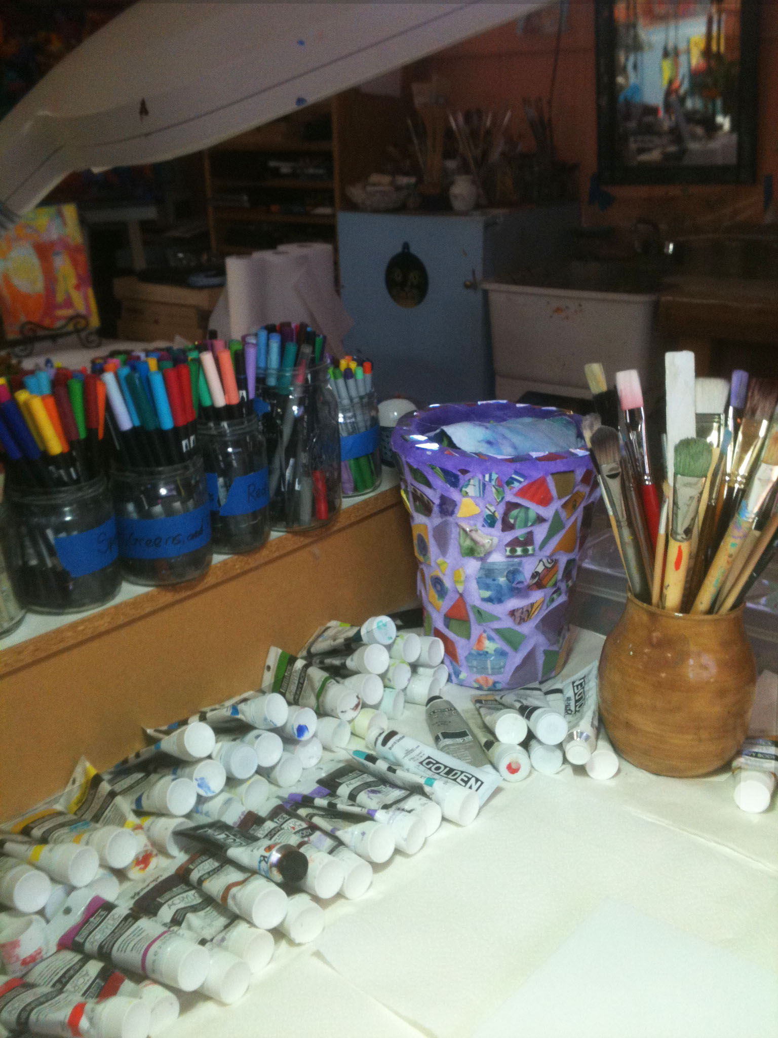 Painting Supplies at Cats & Dragons Art Studio