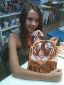 Anna with Her Tiger